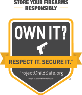 Store your firearms responsibly Own It? Respect IT! Secure IT! ProjectChildSafe.org