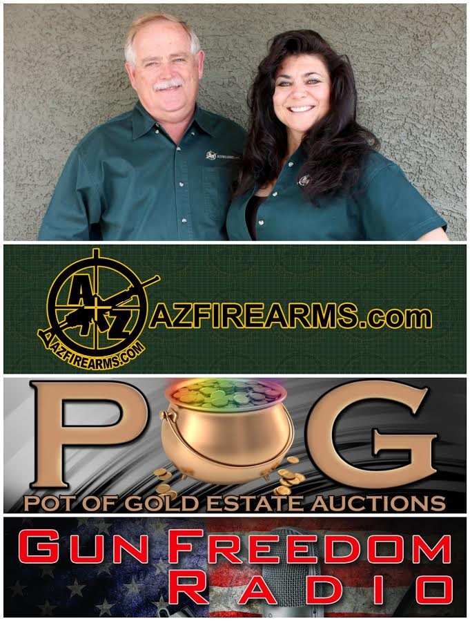 Dan and Cheryl Todd Gun Freedom Radio Hosts and Owners of AZfirearms.com and Pot Of Gold Estate Liquidations & Auctions