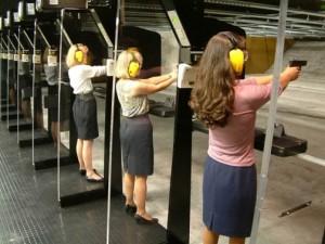 Women On Shooting Range