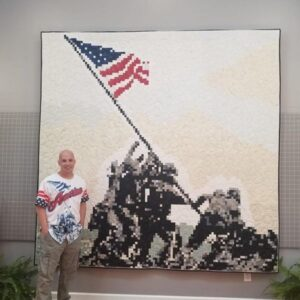 Iwo Jima Quilt by Andrew Lee
