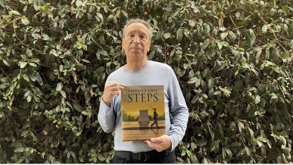 Jeff Gottesfeld is the author of several books, and his latest title is Twenty-One Steps: Guarding the Tomb of the Unknown Soldier.